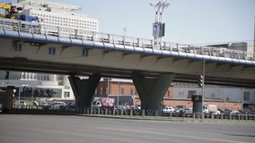 trraffic的城市 路和桥梁 全景 影视素材
