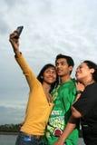 Três amigos Imagens de Stock