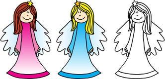 Três anjos Imagens de Stock Royalty Free
