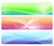 Três bandeiras coloridas do sumário do Web Fotos de Stock