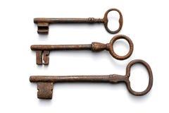 Três chaves velhas Imagem de Stock