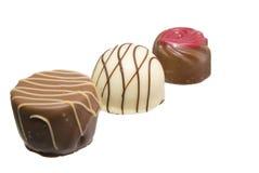 Três chocolates Fotografia de Stock