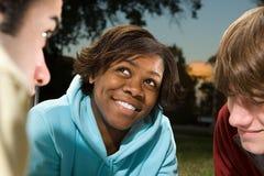 Três estudantes Fotografia de Stock