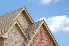 Três frontões do telhado Imagens de Stock
