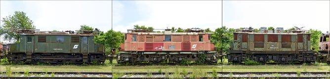 Três locomotivas elétricas Fotos de Stock