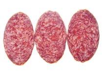 Três partes de salsicha Imagem de Stock