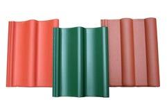 Três telhas concretas Foto de Stock