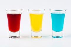 Três tiros coloridos Foto de Stock