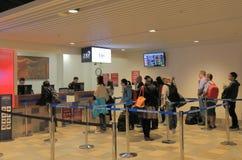 TRS Tourist Refund Scheme counter Brisbane Airport Australia. Stock Photos