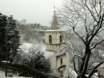 Trsat Castle And Church in Rijeka Croatia Royalty Free Stock Images