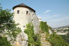 Trsat slott i Rijeka, Kroatien Arkivfoton
