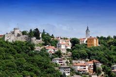 Trsat slott i Rijeka Kroatien - Gradina Royaltyfri Fotografi