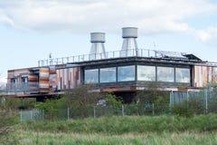 Träsk för RSPB Rainham Arkivfoto