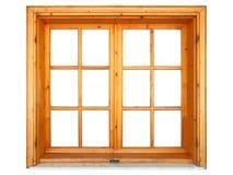 trästängt fönster Arkivbilder