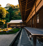 Trätempelbyggnad i Kamakura Arkivfoton