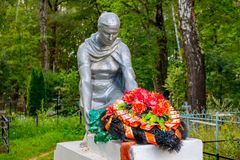 Trubino, Russia - August 2018: Memorial of the Great Patriotic War of 1941-1945 in the village of Trubino stock photo