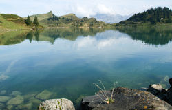 Trubsee lake is a mountain lake at Engelberg Stock Image