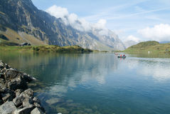 Trubsee lake is a mountain lake at Engelberg Stock Photography