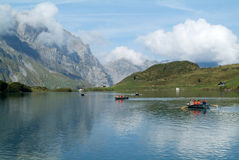 Trubsee lake is a mountain lake at Engelberg Royalty Free Stock Image