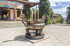 Truc Lam Pagoda images stock