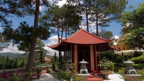 Truc Lam Pagoda in Da lat Vietnam. Truc Lam Pagoda in Dalat, Vietnam. Vertical Pan stock footage