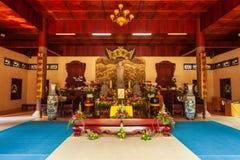 Truc Lam Temple dans Dalat image stock
