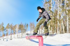 Trucchi di snowboard immagine stock libera da diritti