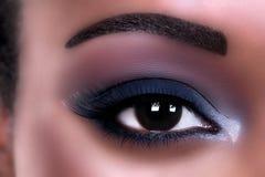 Trucco africano dell'occhio Fotografia Stock Libera da Diritti