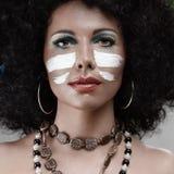 Trucco africano di stile Fotografie Stock Libere da Diritti