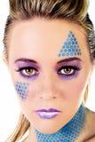 Trucco blu Immagine Stock