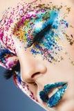 Trucco Colourful fotografia stock libera da diritti