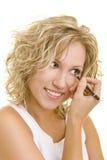 Trucco con eyeliner immagini stock libere da diritti