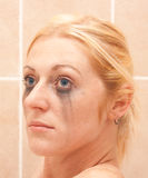 Trucco con gli occhi azzurri Fotografia Stock