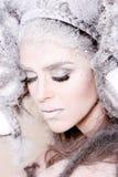 Trucco creativo e capelli su una ragazza di modo Fotografia Stock Libera da Diritti