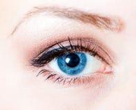 Trucco dell'occhio fotografia stock