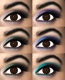 Trucco dell'occhio di Brown Fotografia Stock