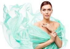 Trucco di bellezza della donna, modello di moda Face Make Up, bella ragazza fotografia stock