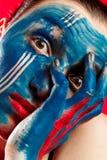 Trucco di body art Fotografia Stock Libera da Diritti