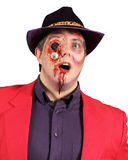 Trucco di Gorey per le scene di orrore e di Halloween Fotografie Stock Libere da Diritti