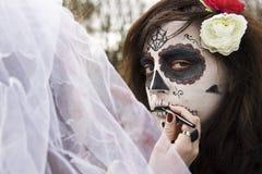 Trucco di Halloween Fotografia Stock Libera da Diritti