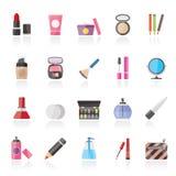 Trucco ed icone dei cosmetici Fotografie Stock Libere da Diritti