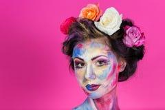 Trucco floreale fotografie stock libere da diritti