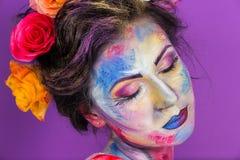 Trucco floreale fotografia stock libera da diritti