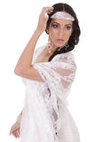Trucco moderno di cerimonia nuziale per una sposa Fotografie Stock Libere da Diritti