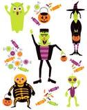 Trucco o ossequio di Halloween Fotografia Stock