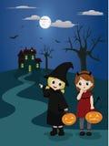 Trucco o ossequio di Halloween Immagine Stock Libera da Diritti