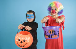 Trucco o ossequio di Halloween fotografie stock libere da diritti