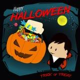 Trucco o ossequio di Halloween Immagini Stock Libere da Diritti