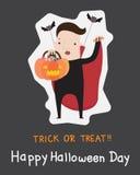 Trucco o ossequio di Halloween Immagine Stock
