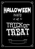 Trucco o ossequio Progettazione del manifesto di Halloween con gli elementi disegnati a mano Immagini Stock